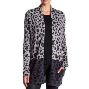 Philosophy Cashmere Leopard Cashmere Cardigan M